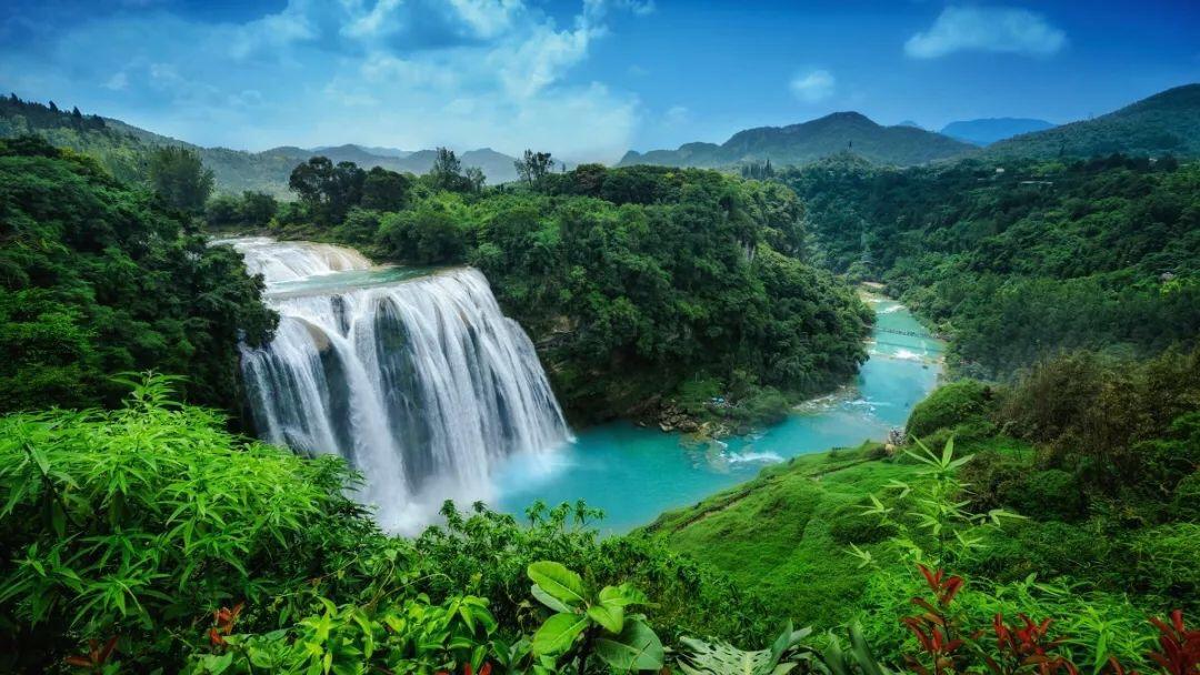 壁纸 风景 旅游 瀑布 山水 桌面 1080_608